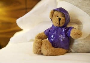 The Knight Residence - Little guests receive a complimentary Knight Knight bear at The Knight Residence serviced apartments in Edinburgh