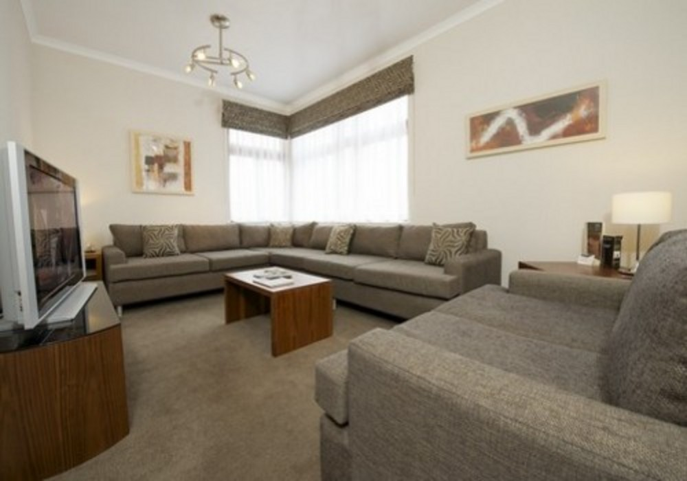 Lounge - Three bedroom comfort apartments at The Knight Residence Edinburgh