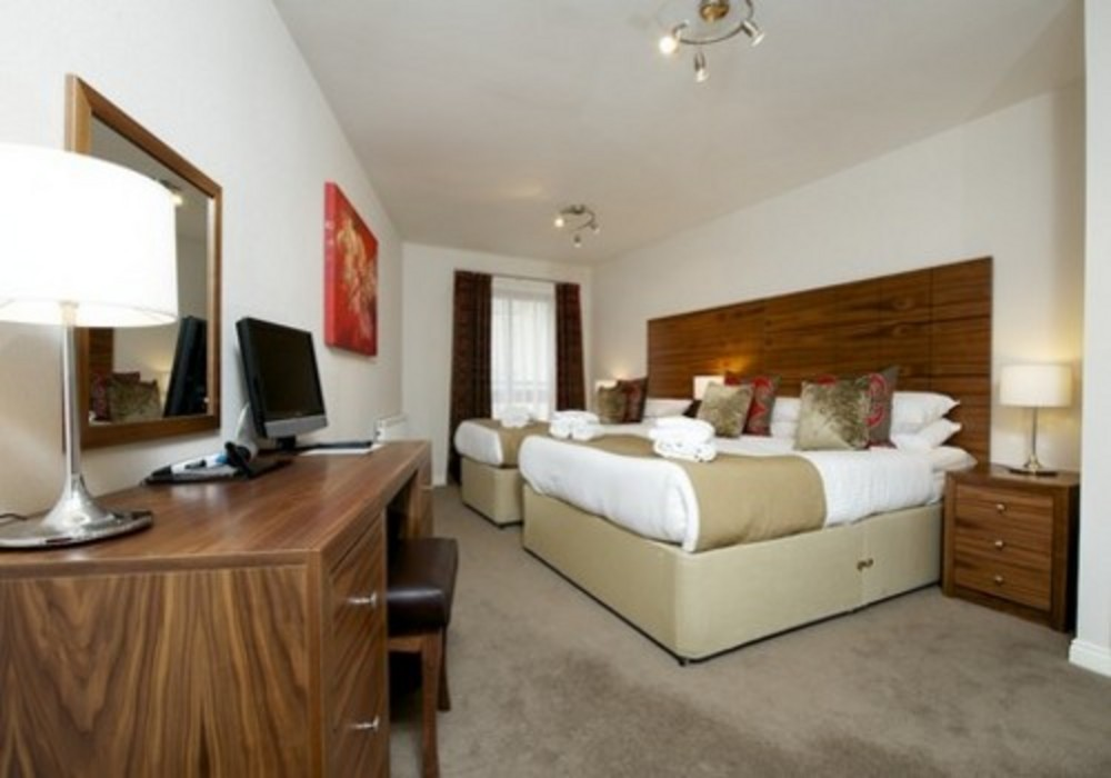 Main bedroom - Three bedroom apartment at The Knight Residence serviced apartments in Edinburgh