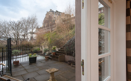 Castle Wynd Apartment-8 - View from lounge and patio at Edinburgh Self Catering Castle Wynd apartment
