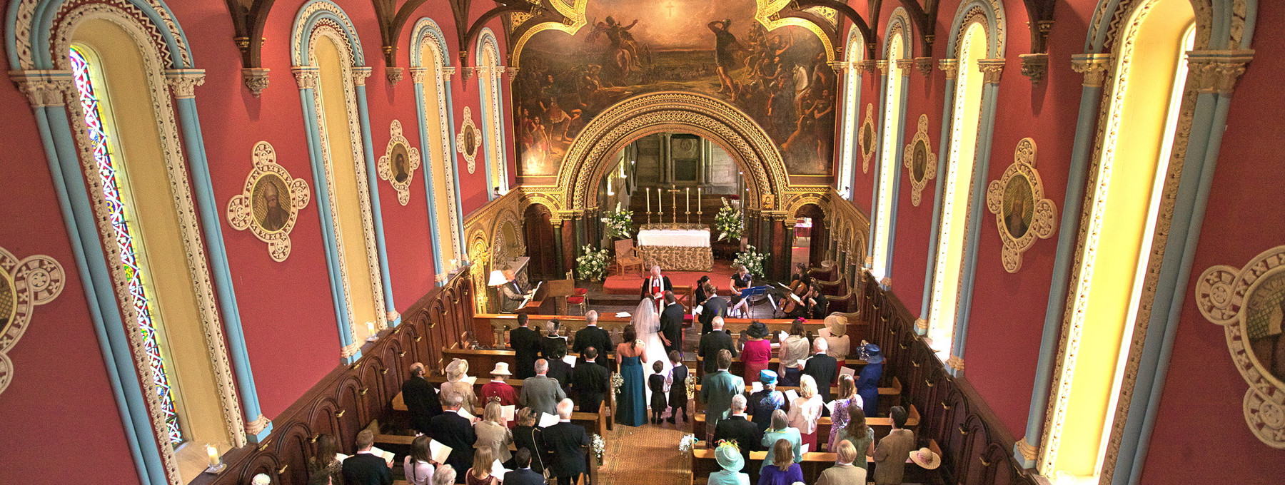 Wedding ceremony at Murthly estate chapel - Vows are promised in the grandeur of the chapel at Murthly estate