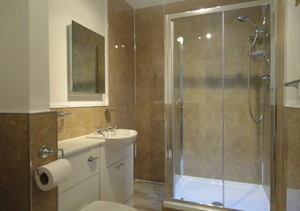 Newly refurbished shower room