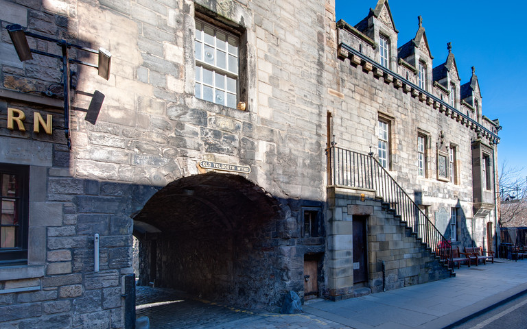 Old Tolbooth Wynd entrance on the Royal Mile