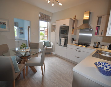 Holiday and golf accommodation Gullane Scotland - Brand new kitchen and dining experience Links Corner