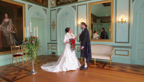 Murthly Castle music room - The reception rooms for weddings at Murthly Castle are as beautiful as the bride and groom (© Nigel Lumsden)