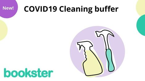 COVID19 Cleaning buffer - Booksters new feature, the Cleaning buffer, designed for property managers who want a safe period, or buffer between guest departures and arrivals.