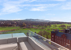 The unrivalled views from the Penthouse Top Balcony - The Pentland Hills