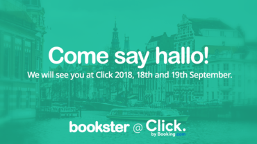 Bookster at Click 2018 - Bookster will attend Booking.com conference, Click.com (© Bookster)