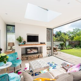 Snug with bifold doors, which open out onto the terrace and private garden.