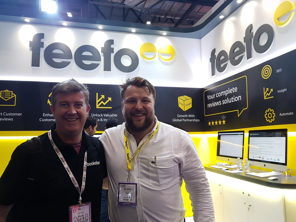 Bookster and Feefo - Bookster and Feefo meeting at WTM 2018