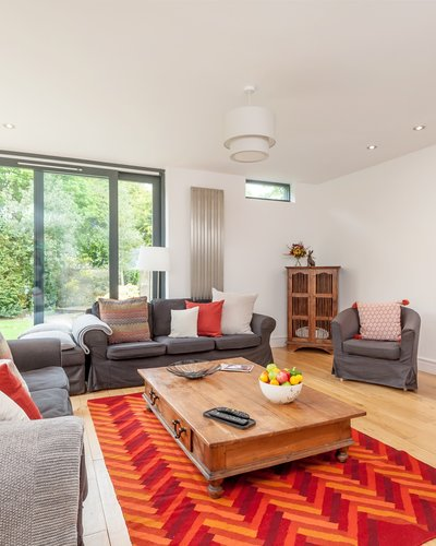 Old Church Lane 2 - Modern family lounge with large glass patio doors