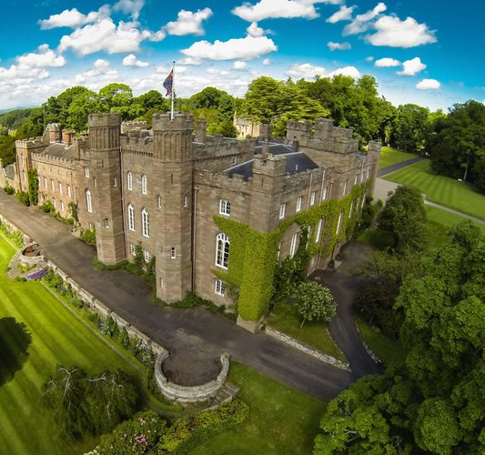 Aerial Shot of Scone Palace