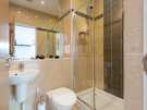 Belmont Apartment 4 en-suite - Shower Room located off the master bedroom. Shower is from mains, operated by Gas-combi boiler