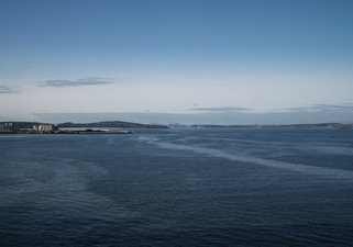 View across to the Forth Bridge