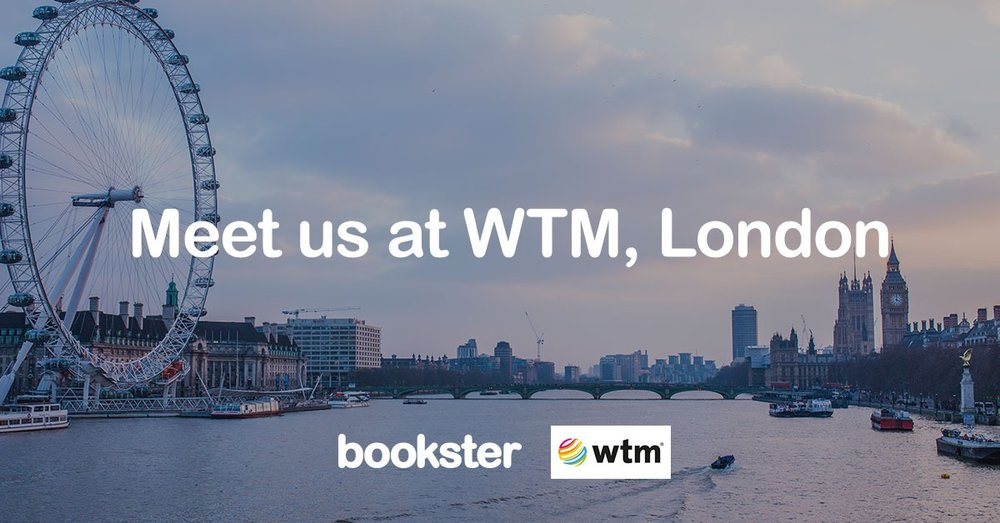 WTM & Travel Forward 2019 - Meet Bookster property management system for holiday rentals at WTM and Travel Forward Conference 2019