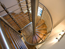 Spiral staircase - Spiral Staircase leading to open plan living area