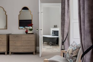 Luxurious Master Bedroom leading to Ensuite Bathroom