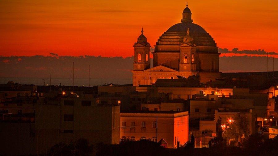 Gozo Church at Sunset
