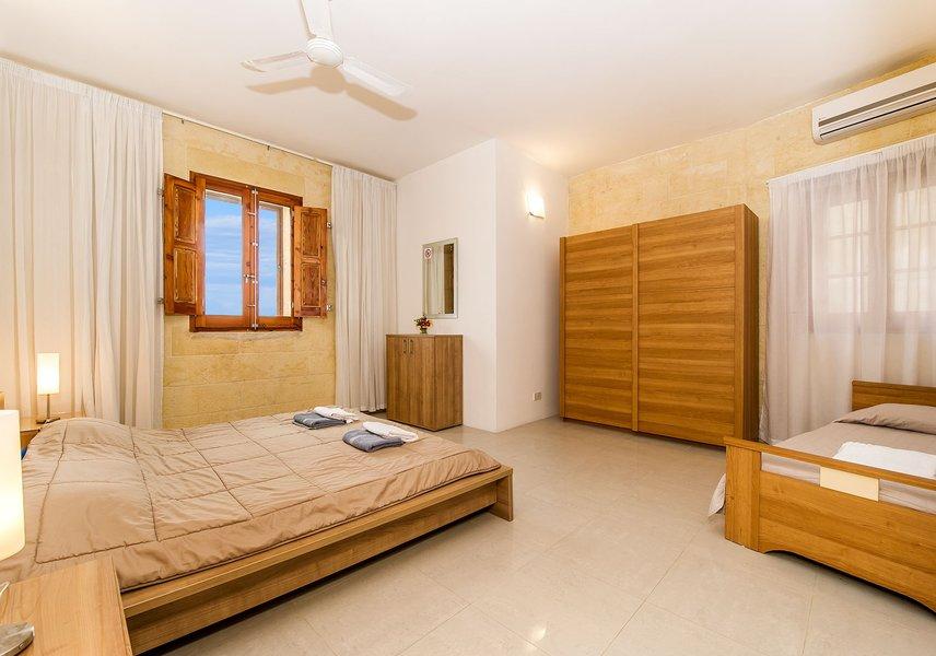 Bedroom in the Gozo villa