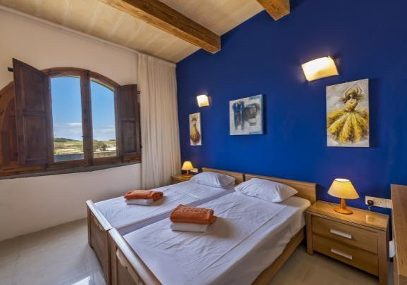 Another bedroom of the villa in Gozo