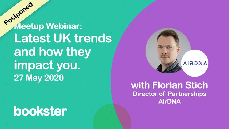 Vacation Rental Event: May 2020 with AirDNA - Special guest speaker Florian Stich from AIRDNA at the Vacation Rental meet-up
