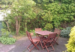 Private garden Gullane, self catering