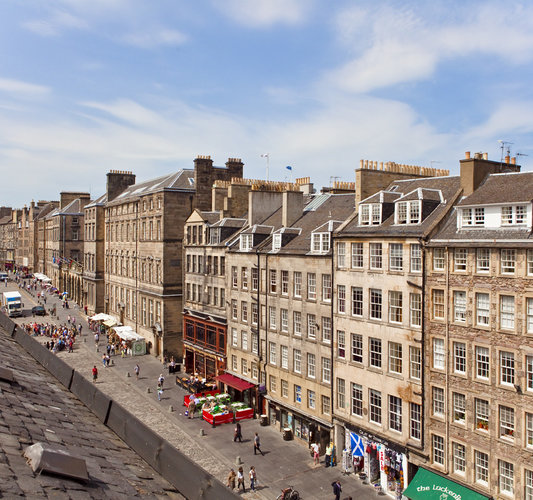Views - Stunning views of the Royal Mile from the apartment. (© The Edinburgh Address)