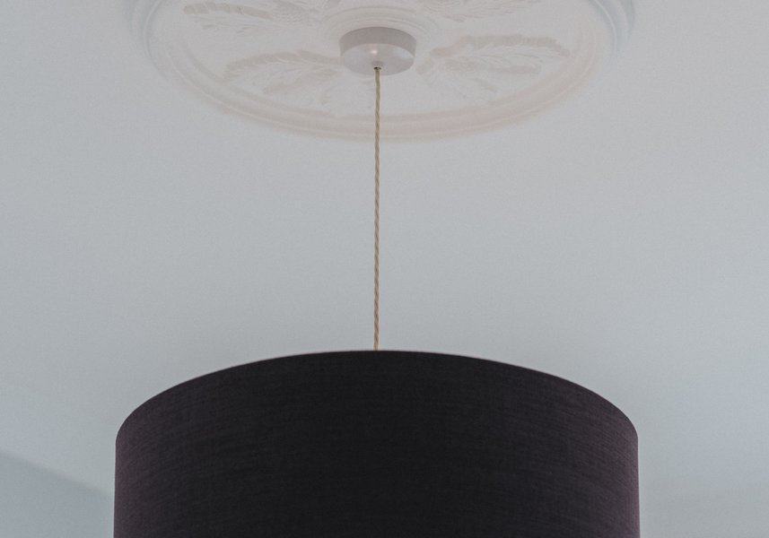 Tartan lightshade with thistle ceiling rose