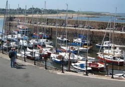 North Berwick's sailing fleet in port
