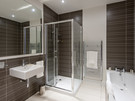 Shandwick Place 7 - Large modern family bathroom with bath and separate walk-in shower