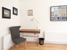 Shandwick Place 4 - Writing desk with framed painting of Princes Street