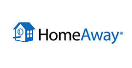 HomeAway logo - Bookster's marketing channel HomeAway
