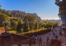 Edinburgh Castle and Princes Street Gardens