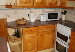 Self catering kitchen, Lodge Cottage one bedroom cottage Gullane