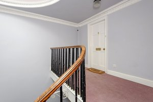Circular entrance stairway to Edinburgh holiday let