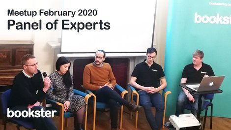 Bookster Meetup February 2020 - The panel of experts at the Bookster meet-up in February 2020 with Booking.com, The Edinburgh Address and Bookster answering questions.