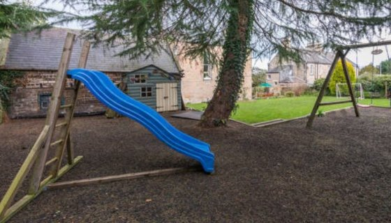 Family Friendly Holiday Home - Play areas with slide and swing in a large family holiday rental near Edinburgh
