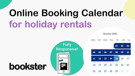 Fully responsive online bookings calendar - Newly developed fully responsive online bookings calendar from Bookster