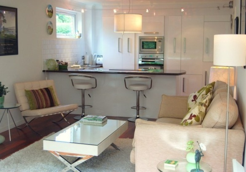 Holiday Lets North Berwick - Open plan sitting room and kitchen