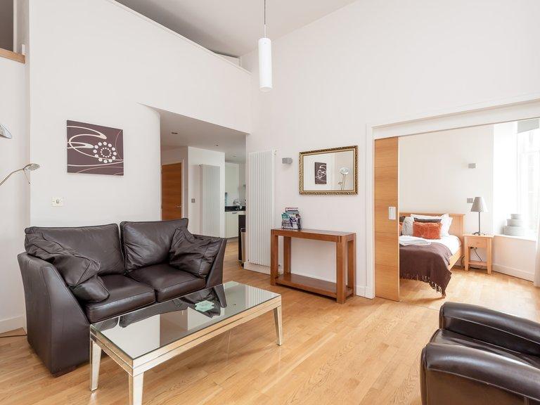 Simpson Loan-2 - Light open plan living area in Edinburgh holiday let