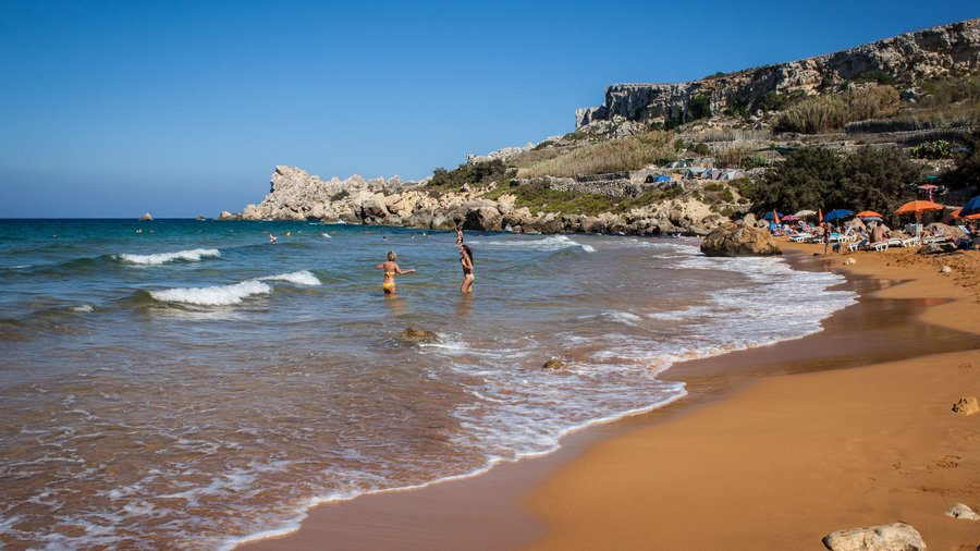 San Blas Bay - Holidays in Gozo offer lovely red sand beaches of San Blas and Ramla.