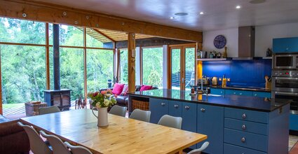 Ptarmigan Lodge - 4 Bed Home with Hot Tub. Kitchen dining area in the living space