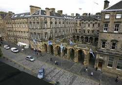 View from lounge and bedrooms Parliament Square 5 Royal Mile Edinburgh