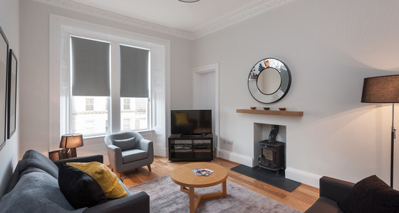 Brunswick Street 1 - Large family living room in with sofa bed in Edinburgh holiday let