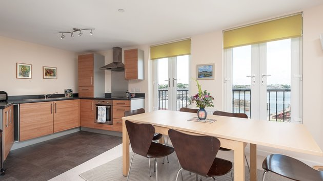 Newhaven Place 1 - Family kitchen and dining area with Juliet balcony