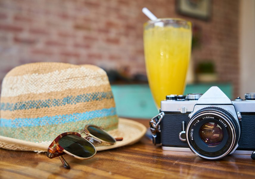 camera-hat-sun-drink-travel-hipster