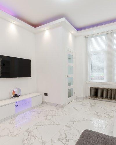 BrougtonRd_5 - Ultra-modern open plan living area in Edinburgh holiday let
