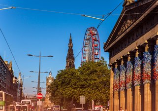 Princes Street from the Royal Scottish Academy