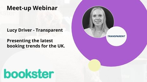 Lucy Driver from Transparent joined the Bookster vacation rental meet-up - Lucy Driver presented the latest June data for bookings in the UK together with Kelly Odor of Bookster.
