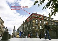 Picture of Parliament Square, on Royal Mile, 300 metres from Edinburgh Castle, Lothian, Scotland